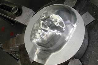 Woman Face Machining on our machine face-2